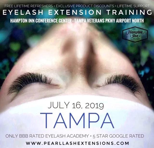f46df0aa7c7 Tampa Eyelash Extension Classic Training Class July 16, 2019 Pearl Lash