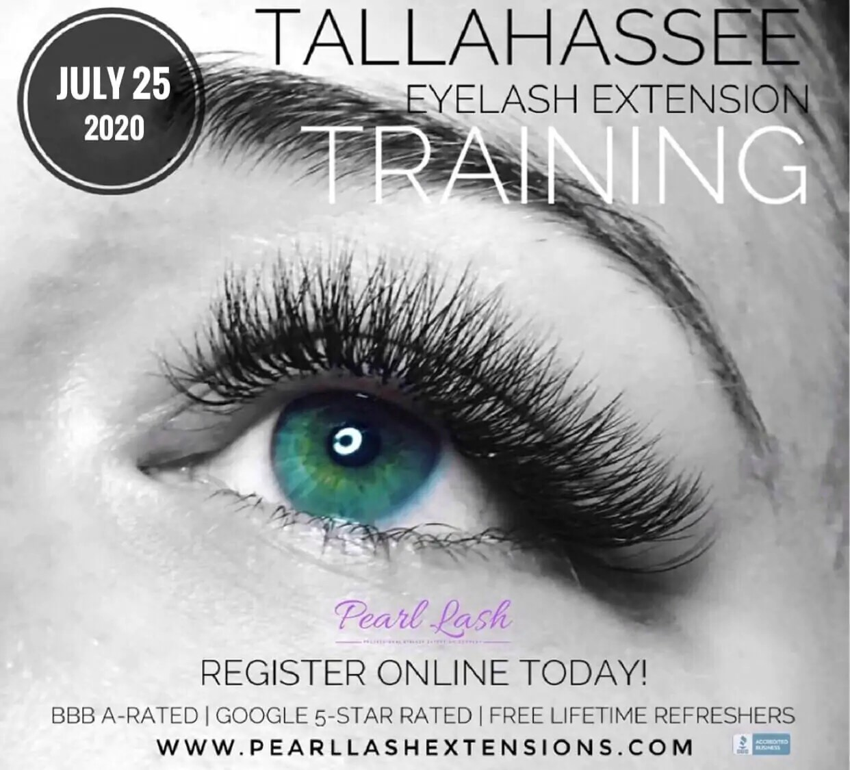Tallahassee Classic Eyelash Extension Training by Pearl Lash