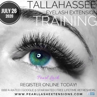 Eyelash Extension Classic Training Tallahassee by Pearl Lash