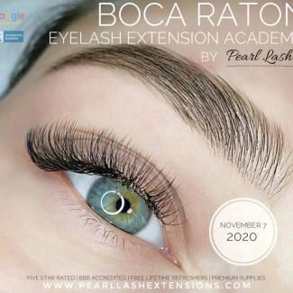 Classic Eyelash Extension Training Boca Raton by Pearl Lash