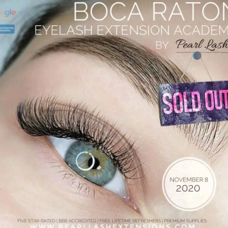 Eyelash Extension Boca Raton Training by Pearl Lash