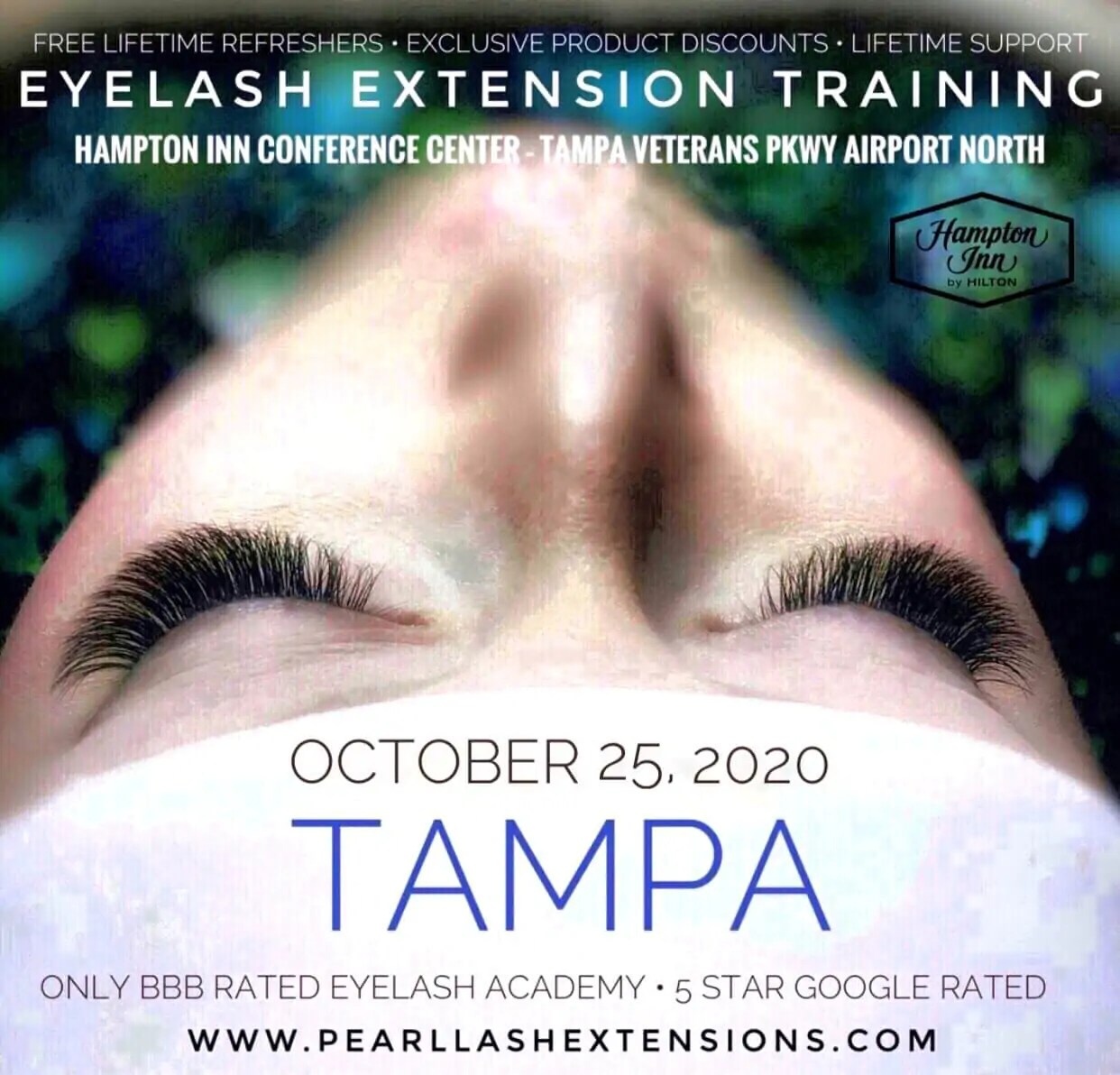 Classic Eyelash Extension Training Tampa by Pearl Lash