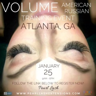 Atlanta Volume Eyelash Extension Training by Pearl Lash