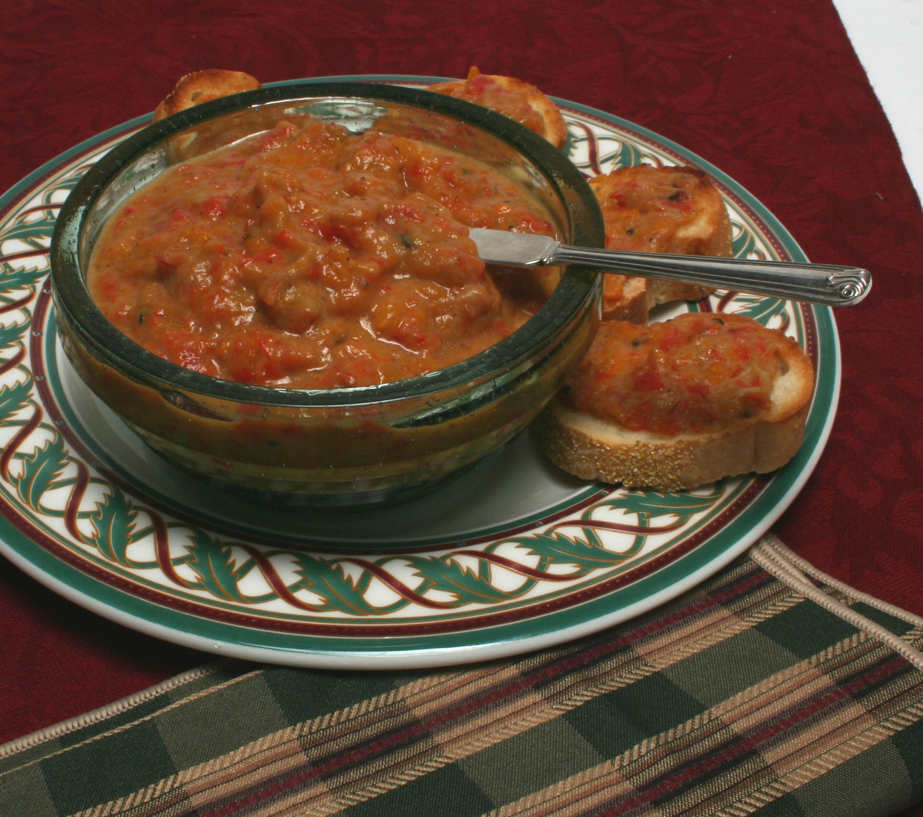 Roasted Red Pepper And Eggplant Spread