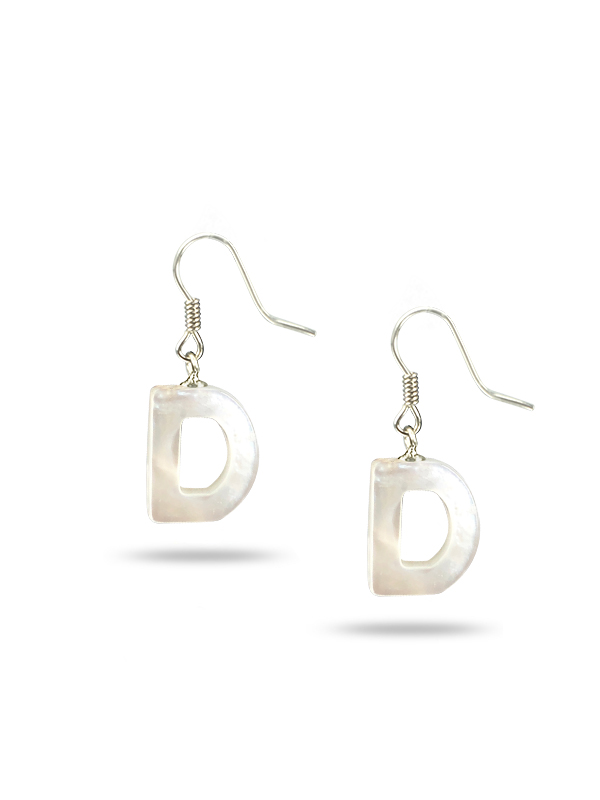 "MAUNA LOA COLLECTION Letter ""D"" Mother-of-Pearl Earrings"