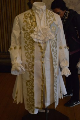 Paper recreations of clothes worn by guests to balls held in the Cupola Room