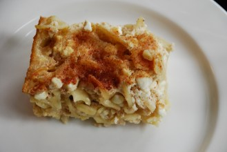Leah S. K's Noodle Kugel with Hood Sour Cream.