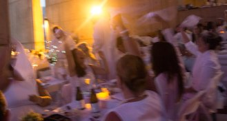 The waving of the white napkin signals the start of dinner. Bon appétit.