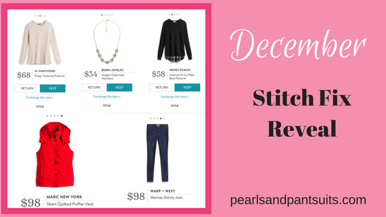 December 2017 Stitch Fix Reveal!