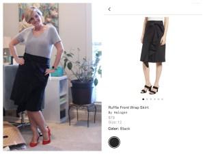 Halogen Ruffle Front Wrap Skirt