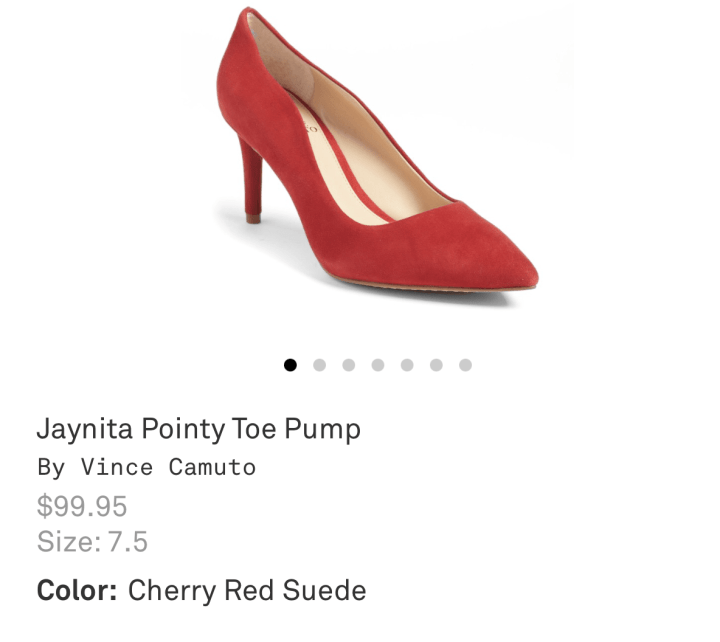 Trunk Club Vince Camuto red Heels