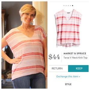 Market & Spruce Tarza V Neck Knit Top