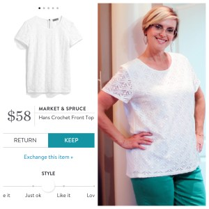 Market & Spruce Hans Crochet Front Top from Stitch Fix