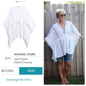 Michael Stars Jessi Tassel Detail Coverup Stitch Fix