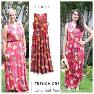 French Grey Janel Knit Maxi Dress