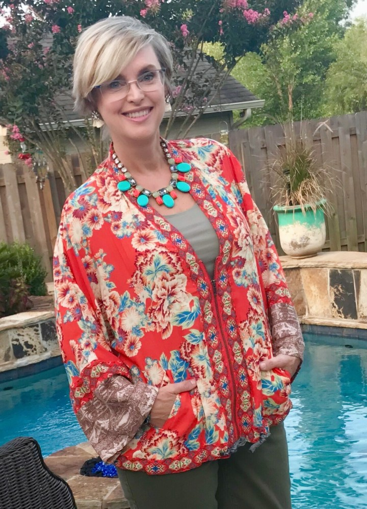 How to style a floral jacket