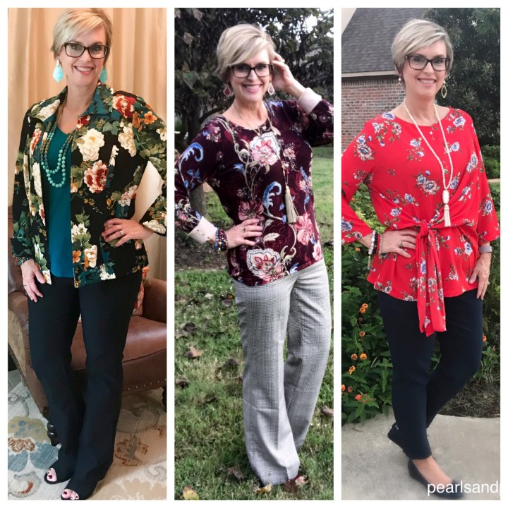 Floral tops for fall