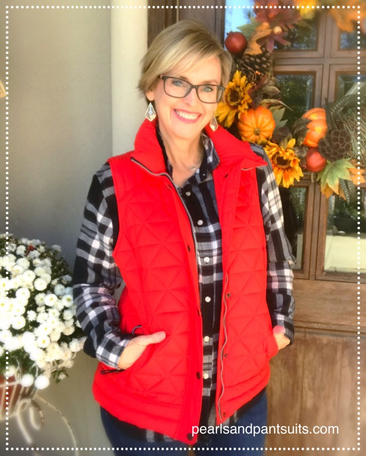 Stitch Fix red vest