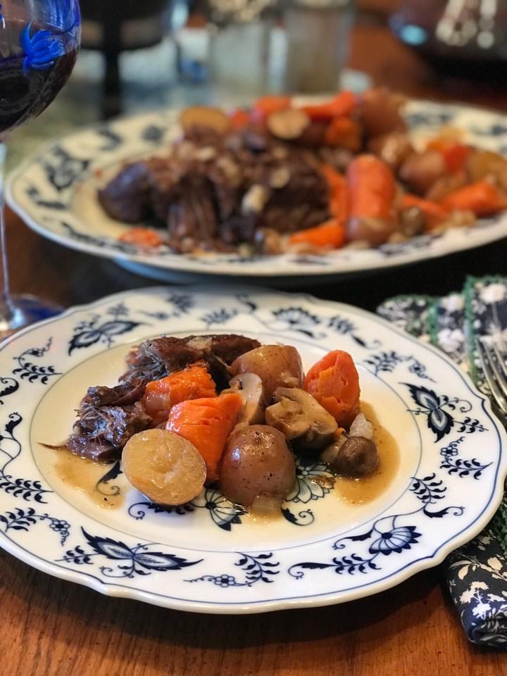 Coffee Roast Beef with veggies