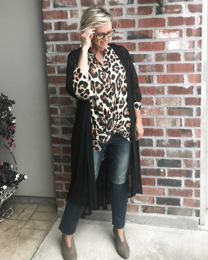 How to style a leopard Print Tunic