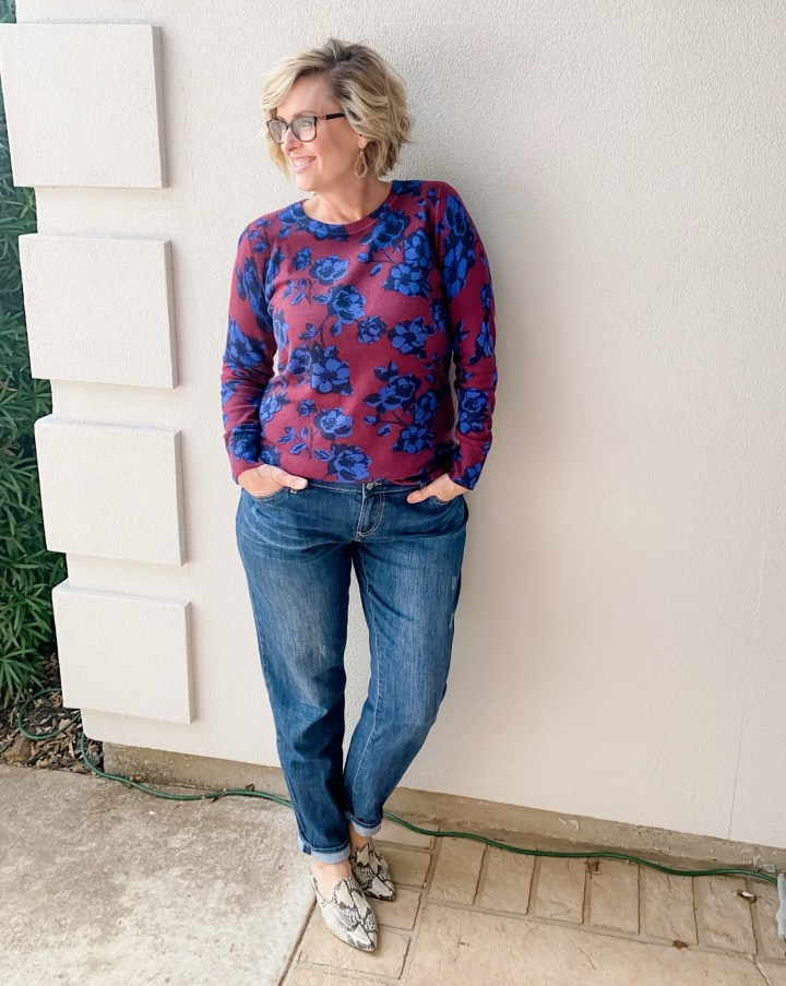 41 HAWTHORN | Maysie Printed Crewneck Pullover