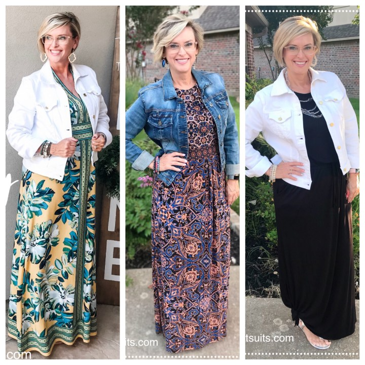 Maxi Dresses and Jackets