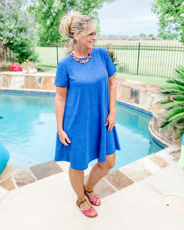 Blue Old Navy Swing Dress