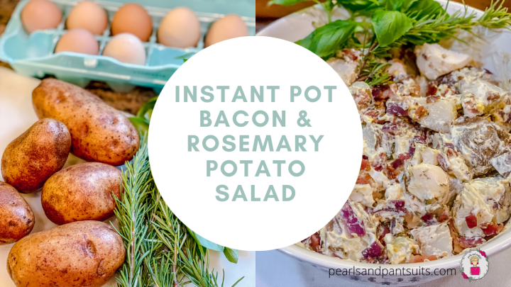 Instant Pot Bacon & Rosemary Potato Salad