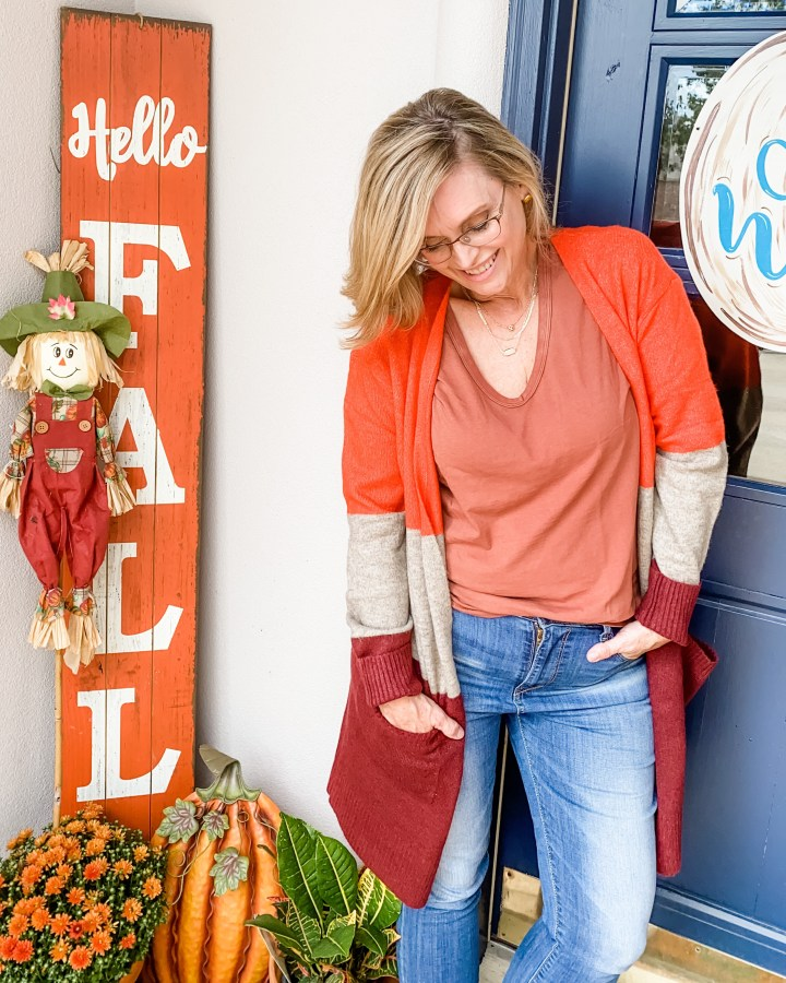 Classic Fall Styles from Target | Colorblock Cardigan from Target
