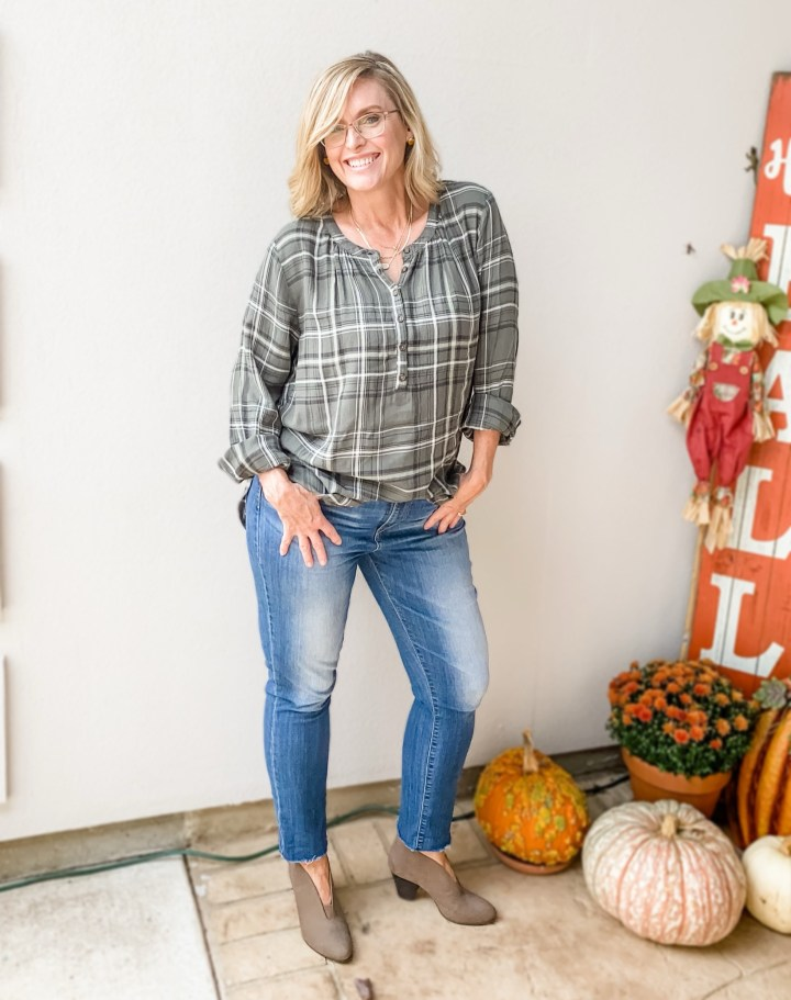 Green Plaid Tunic from Target