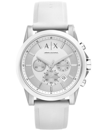 https://www.macys.com/shop/product/ax-armani-exchange-unisex-chronograph-white-silicone-strap-watch-44mm-ax1325?ID=2634752&CategoryID=23930#fn=BAND_COLOR%3DWhite%26SIZE%3D%26sp%3D1%26spc%3D517%26ruleId%3D78%7CBOOST%20ATTRIBUTE%26kws%3Dmens%20watch%20white%26searchPass%3DexactMultiMatch%26slotId%3D13