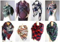 Etsy Finds Friday: Plaid Fall Scarves - Pearls and Sports Bras