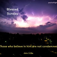 Those who belive in him are not condemned