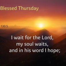 I wait for the Lord, my soul waits,     and in his word I hope;