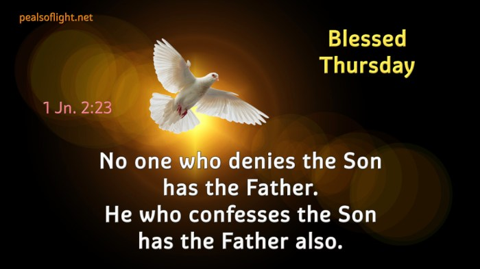 No one who denies the Son has the Father. He who confesses the Son has the Father also.