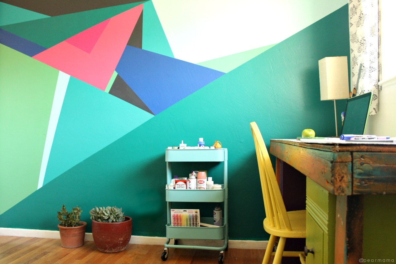 paint this geometric wall