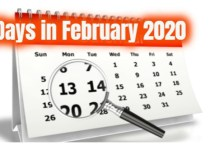 How many days in february 2020