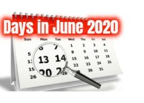 How many days in june 2020