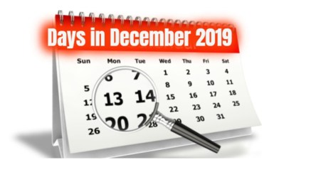 How many Days in December 2019