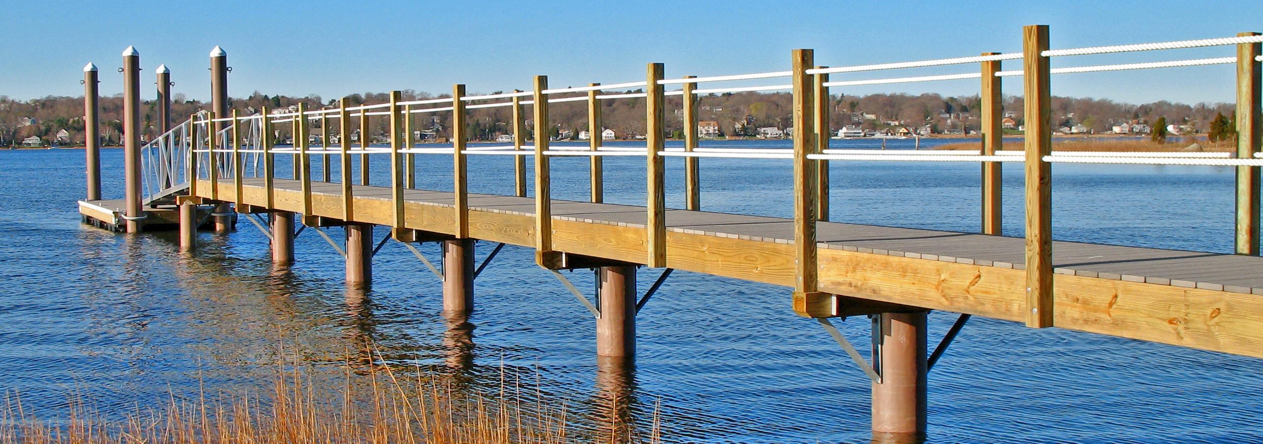 Fiberglass Composite Dock and Pier Pilings | Pearson Pilings
