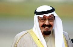 happy saudi monarch