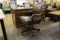 Traditional Wood & Brown Leather Executive Chairs ...