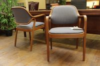Knoll 'Petit' Vintage Bent Wood Frame Side Chairs