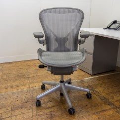 Posturefit Chair Ergonomic New Zealand Herman Miller Aeron Size B Chairs In Platinum