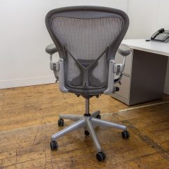 Posturefit Chair Small Bedroom No Arms Herman Miller Aeron Size B Chairs In Platinum