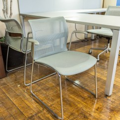 Zephyr Desk Chair Wedding Covers Hire Plymouth Stylex Chrome And Platinum Mesh Stacking Arm Chairs