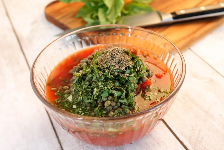Tomato Basil Caper