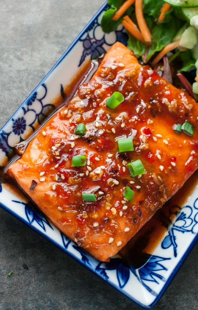 Sweet Chili Sriracha Salmon