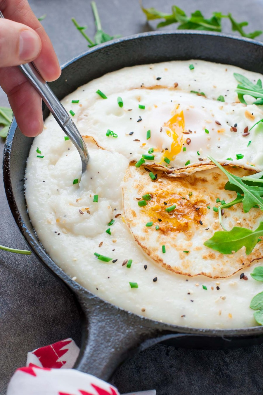 Cheese Grits Breakfast Bowls Recipe