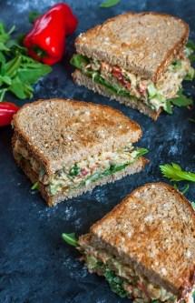 Veggie Chickpea Salad Sandwich